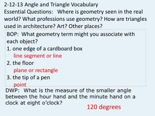 2 -12 -13  Angle and Triangle Vocabulary