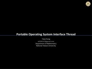Portable Operating System Interface Thread