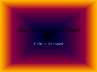 Calculation Mole Fractions