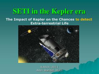 SETI in the  Kepler  era