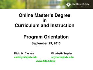 Online Master's Degree  in  Curriculum and Instruction