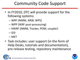 Community Code Support