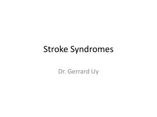 Stroke Prevention and Rehabilitation