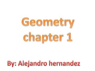 Geometry chapter  1