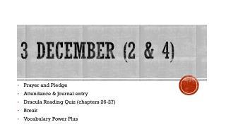 3 December (2 & 4)