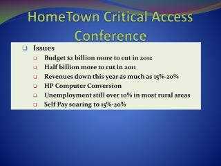 HomeTown Critical Access Conference