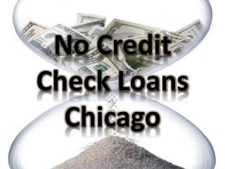 No Credit Check Loans Chicago