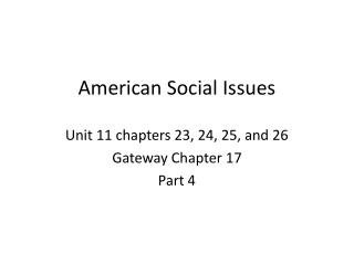 American Social Issues