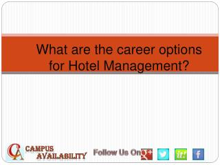 Carrer Options in Hotel Management