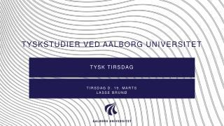Tyskstudier ved Aalborg universitet