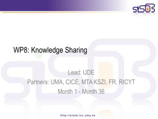 WP8: Knowledge Sharing