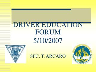 DRIVER EDUCATION FORUM 5