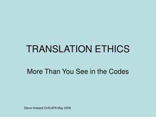 TRANSLATION ETHICS