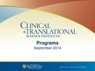 Programs September 2014