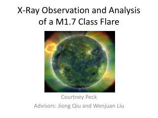 X-Ray Observation and Analysis of a M1.7 Class Flare