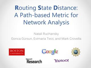 R outing  S tate  D istance: A Path-based Metric for Network Analysis