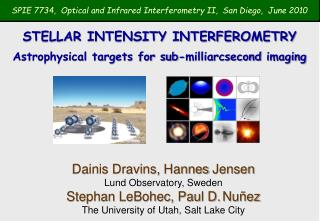 SPIE 7734,  Optical and Infrared Interferometry II,  San Diego,  June 2010