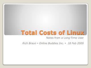 Total Costs of Linux