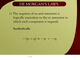De Morgan's Laws – 2 - 9