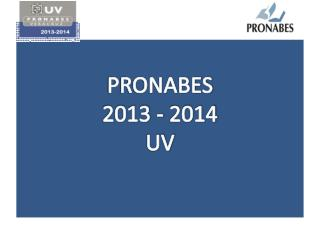 PRONABES 2013 - 2014 UV