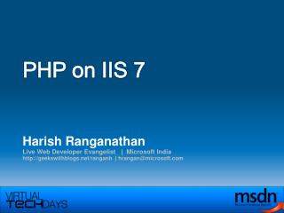 PHP on IIS 7