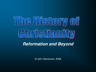 Reformation and Beyond