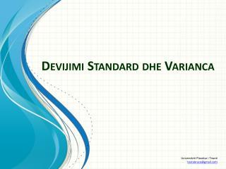 Devijimi Standard dhe Varianca
