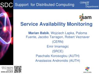 Service Availability Monitoring