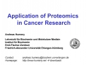 Application of Proteomics  in Cancer Research