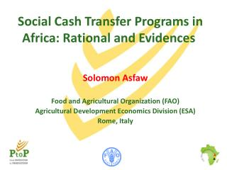 Social  C ash  T ransfer  P rograms in Africa: Rational and Evidences