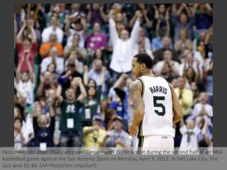 Jazz ends Spurs' win streak at 11
