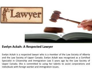 Evelyn Ackah - A Respected Lawyer