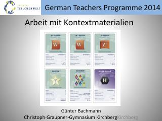 German  Teachers  Programme 2014