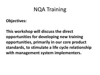 NQA Training