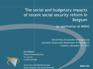 An application of MIDAS Social Policy & Economic Strategy Group