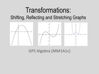 Transformations : Shifting, Reflecting and Stretching Graphs