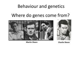 Where do genes come from?