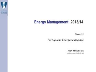 Energy Management:  2013/14