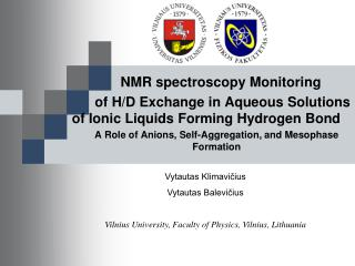 NMR  spectroscopy Monitoring