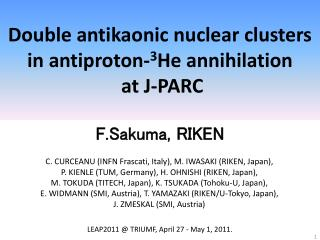 Double  antikaonic  nuclear clusters in antiproton- 3 He annihilation  at J-PARC