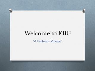 Welcome to KBU