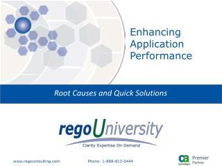 Enhancing Application Performance
