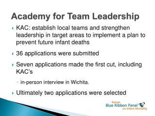 Academy for Team Leadership