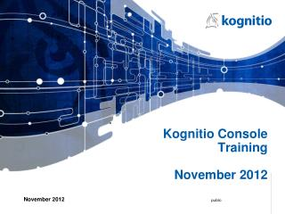 Kognitio Console Training November  2012