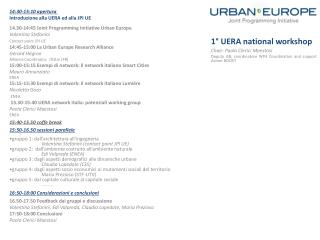 14.30-14:45 Joint  Programming I nitiative Urban Europe Valentina Stefanini Contact point  JPI UE