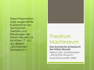 Theatrum Machinarum
