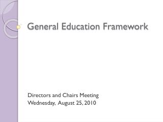 General Education Framework