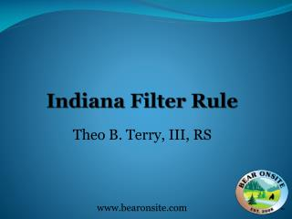 Indiana Filter Rule