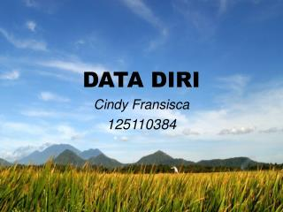 DATA DIRI Cindy  Fransisca 125110384