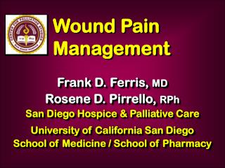 Wound Pain Management